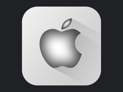 Desain Apple Flat Long Shadow