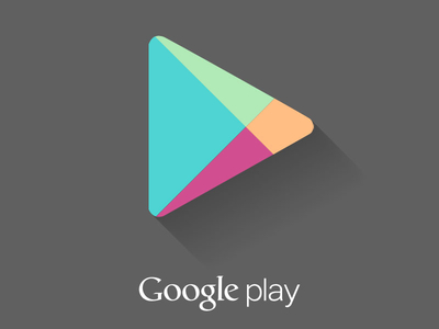 Desain Google Play Flat Long Shadow