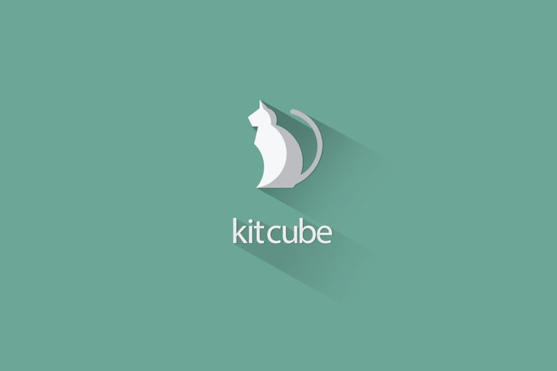 Desain Kitcube Flat Long Shadow