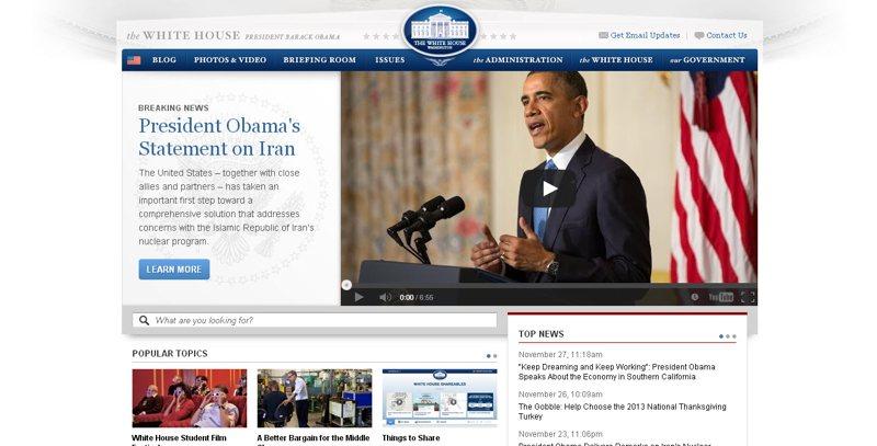 the white house-example-web-desain