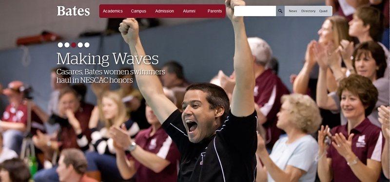 Desain Website Universitas Keren - Bates College