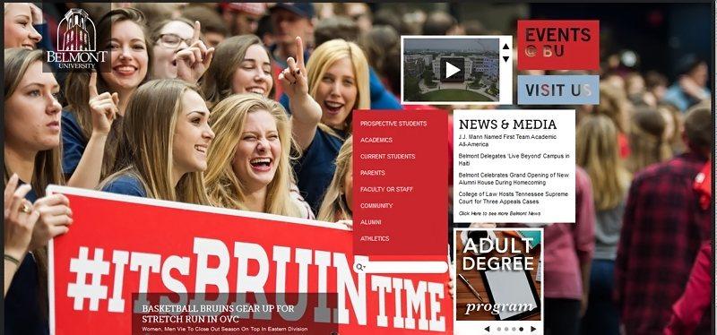 Desain Website Universitas Keren - Belmont University