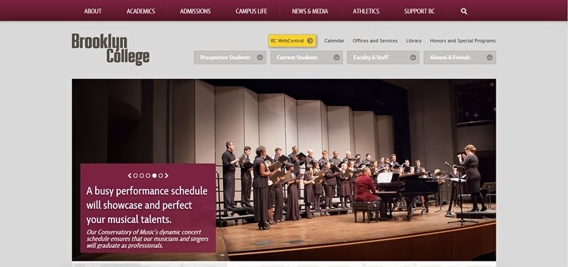 Desain Website Universitas Keren - Brooklyn College