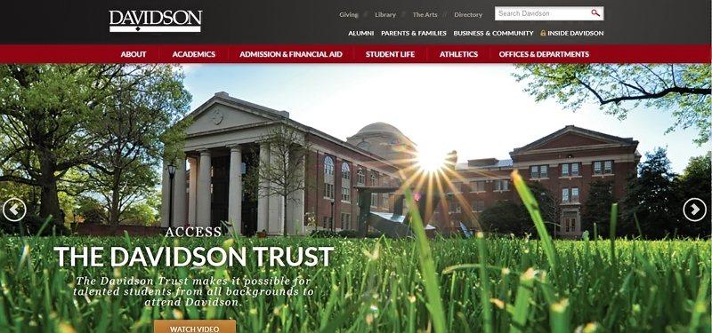 Desain Website Universitas Keren - Davidson College