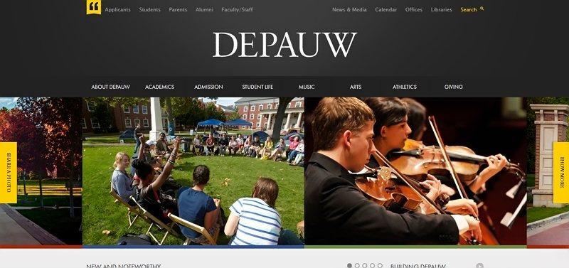 Desain Website Universitas Keren - DePauw University