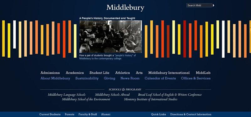 Desain Website Universitas Keren - Middlebury College