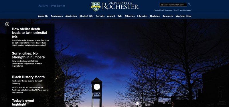 Desain Website Universitas Keren - University of Rochester