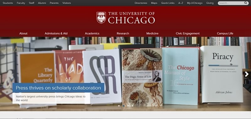 Desain Website Universitas Keren - the University of Chicago