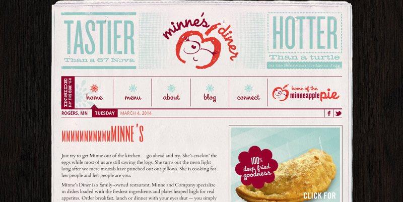 desain-website-kuliner-minne's diner