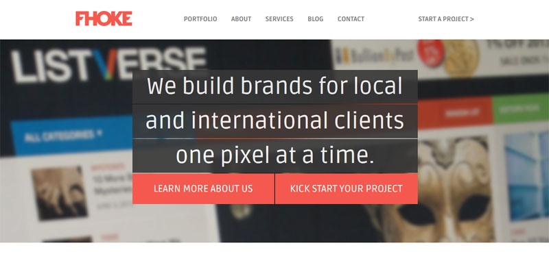 Web Design with Fixed Header fhoke