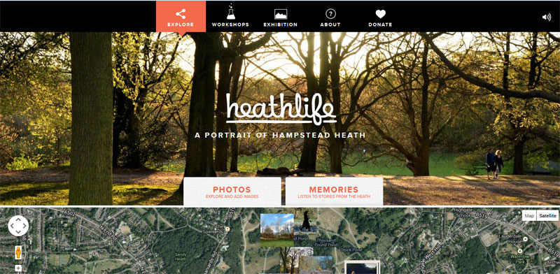 Web Design with Fixed Header heathlife