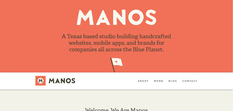 Web Design with Fixed Header manos