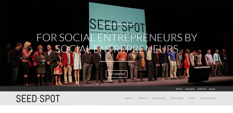 Web Design with Fixed Header seedspot