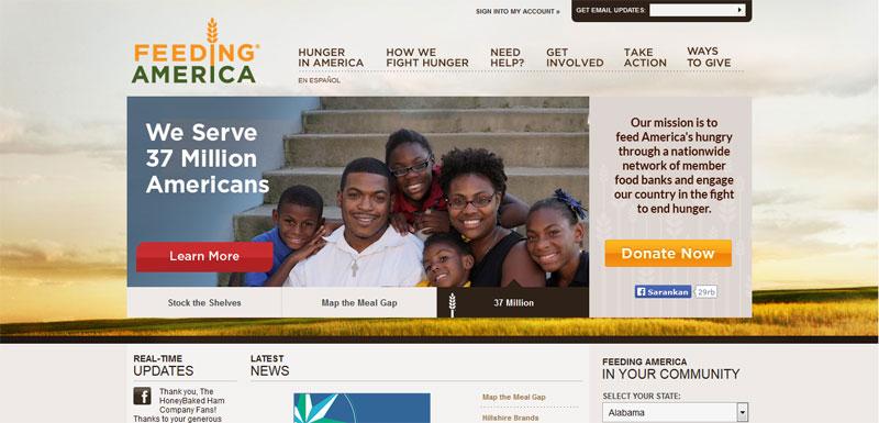 nonprofit website design FEEDING-AMERICA