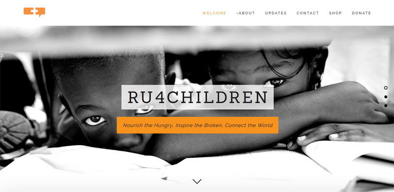 Nonprofit website design RU4CHILDREN