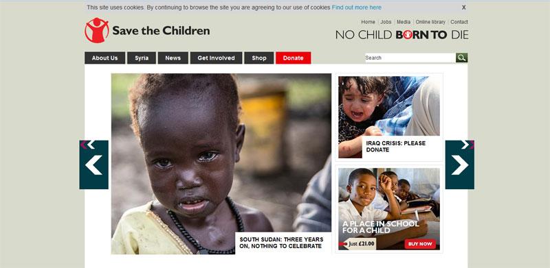 nonprovit website design SAVE-THE-CHILDREN