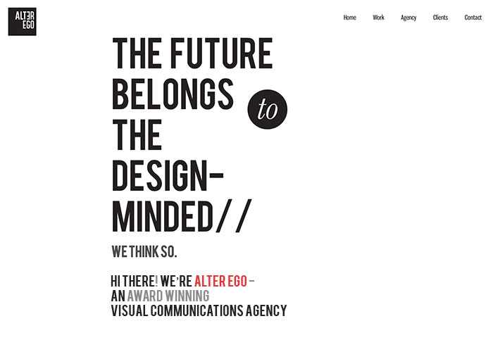 Single Page Web Design alterego