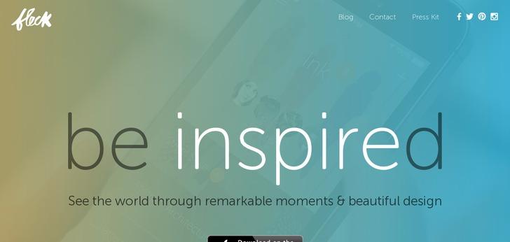 Single Page Web Design getfleck