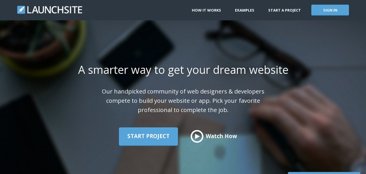 Single Page Web Design launchsite