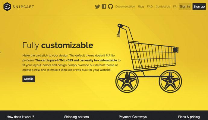 Single Page Web Design ssnipcart