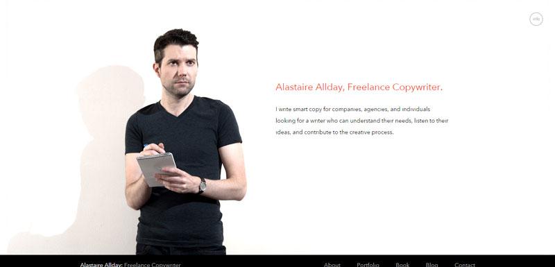black and white website Freelance