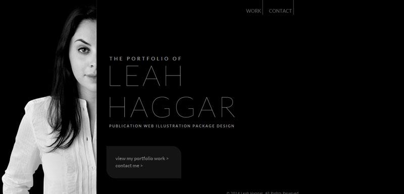 black and white website Leah-Haggar