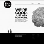 20 Inspirasi Website Black and White