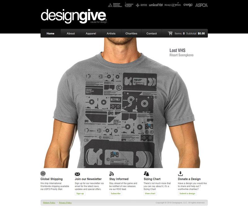 black and white website designgive