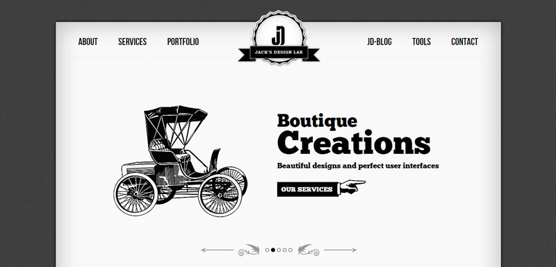 black and white website jacks-design