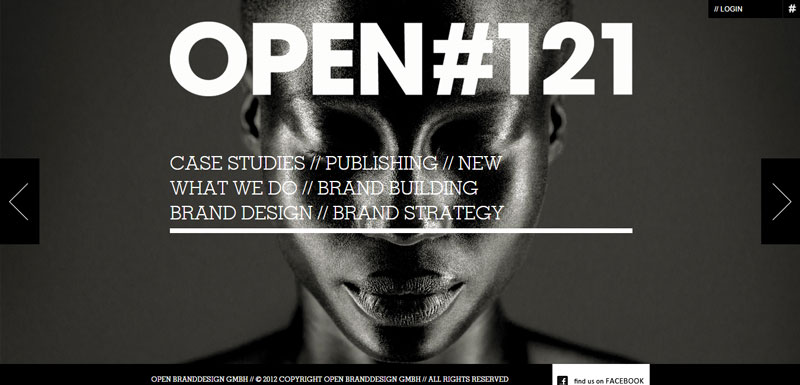 black and white website open121
