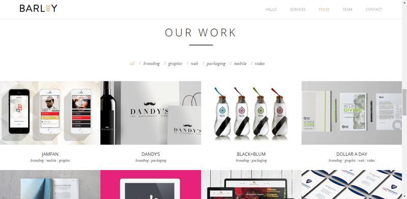 typhography web design barley
