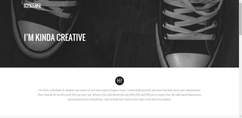 typhography web design calvin