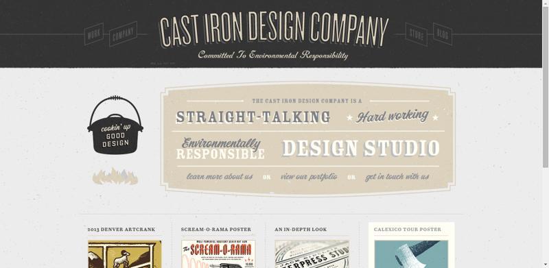 typhography web design castiron