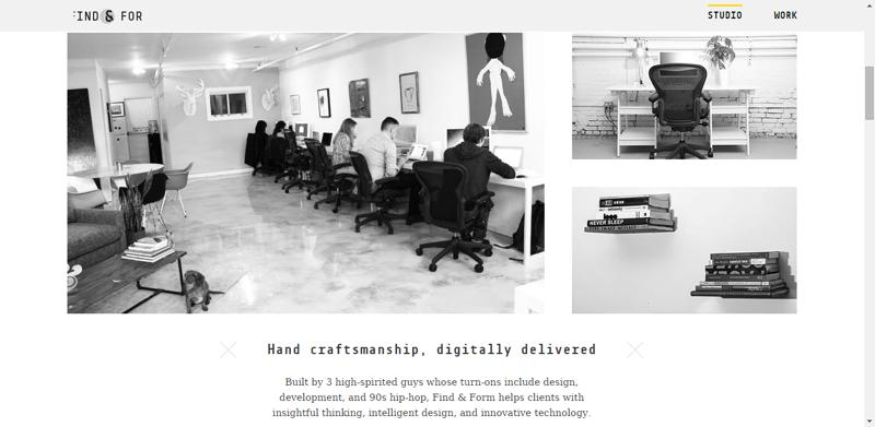 typhography web design find&form