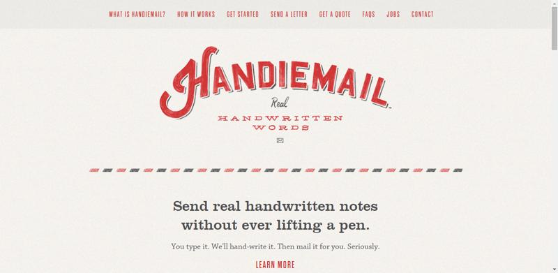 typhography web design handiemail