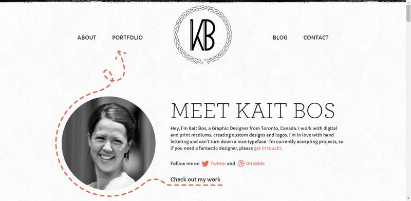 typhography web design kaitbos
