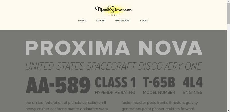 typhography web design mark