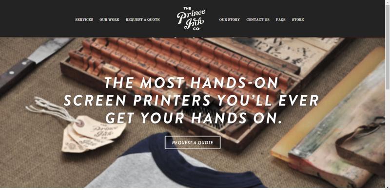 typhography web design prince