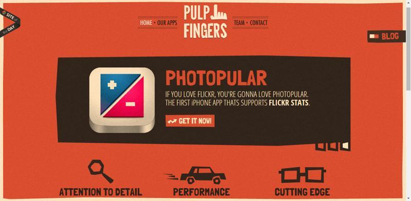 typhography web design pulpfinger