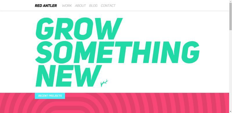 typhography web design redantler