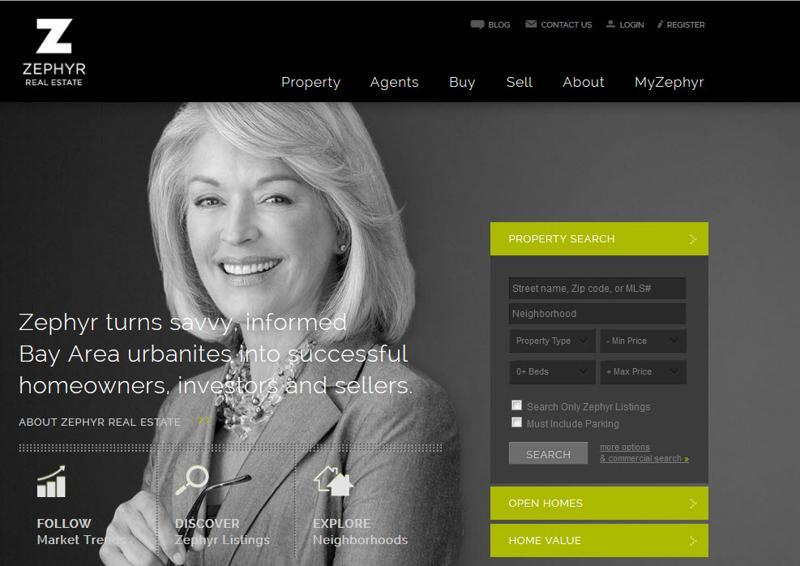 Desain web real estate - Zephyrsf