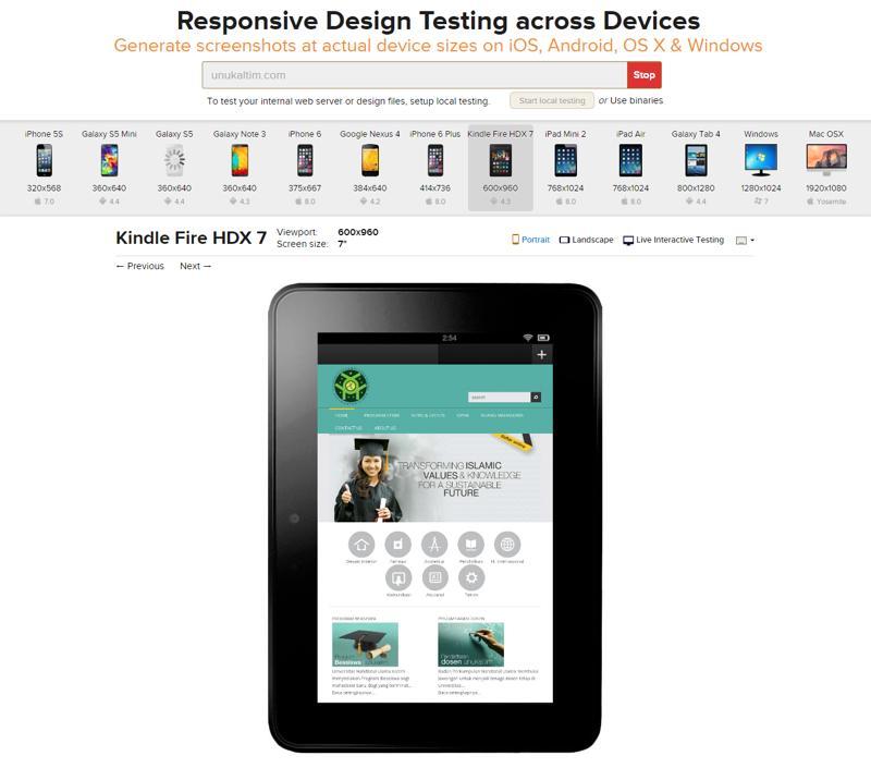 Responsive Design Testing
