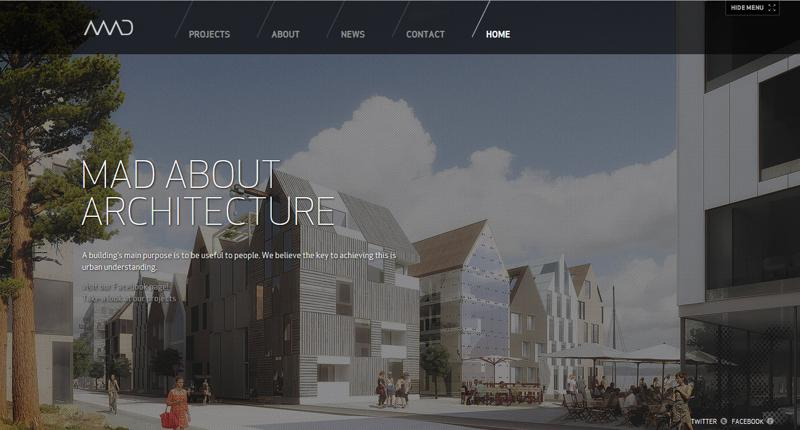 inspirasi desain web real estate - mad