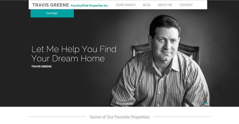 inspirasi desain web real estate - realestatebytravis