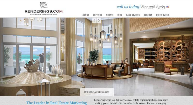 inspirasi desain web real estate - renderings