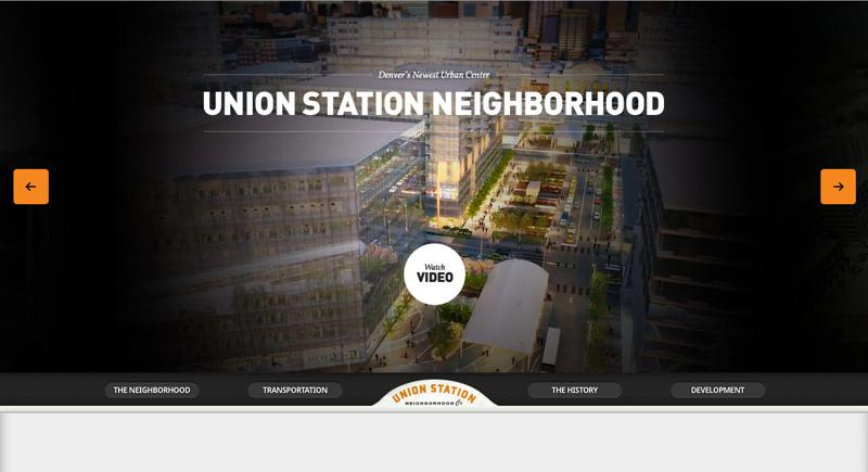 inspirasi desain web real estate - unionstationdenver