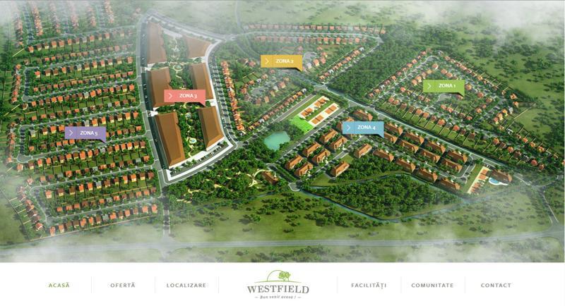 inspirasi desain web real estate - westfield