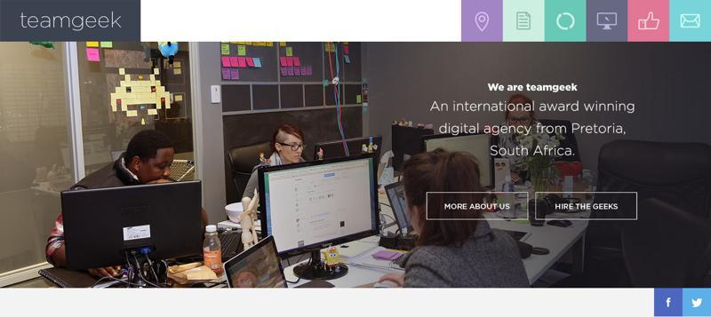 web design navigation teamgeek